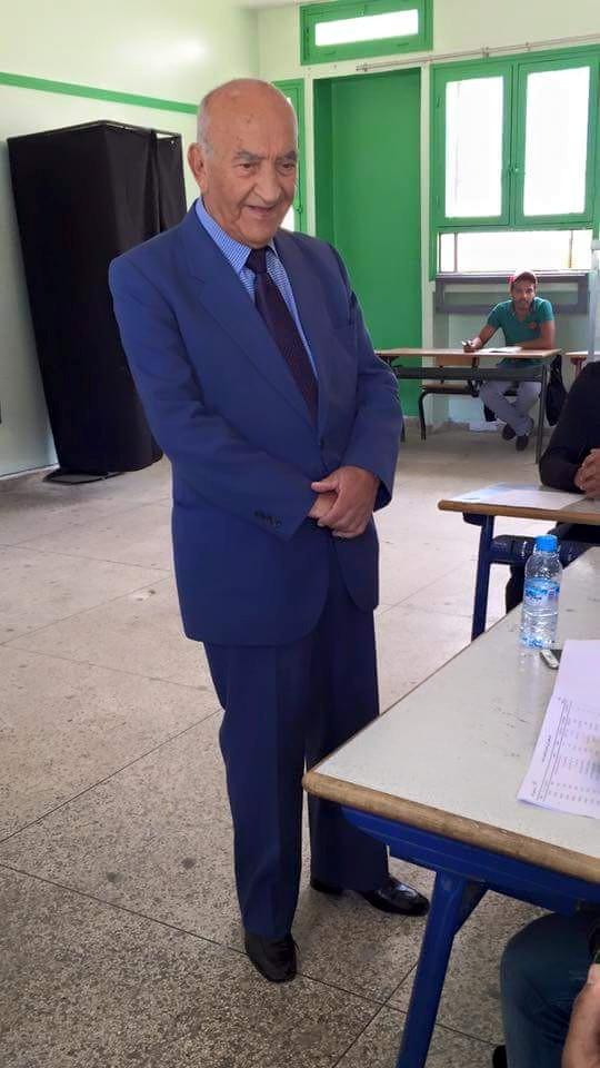 الزعيم المجاهد  اليوسفي عبد الرحمن يصوت يوم 4 شتنبر 2015
